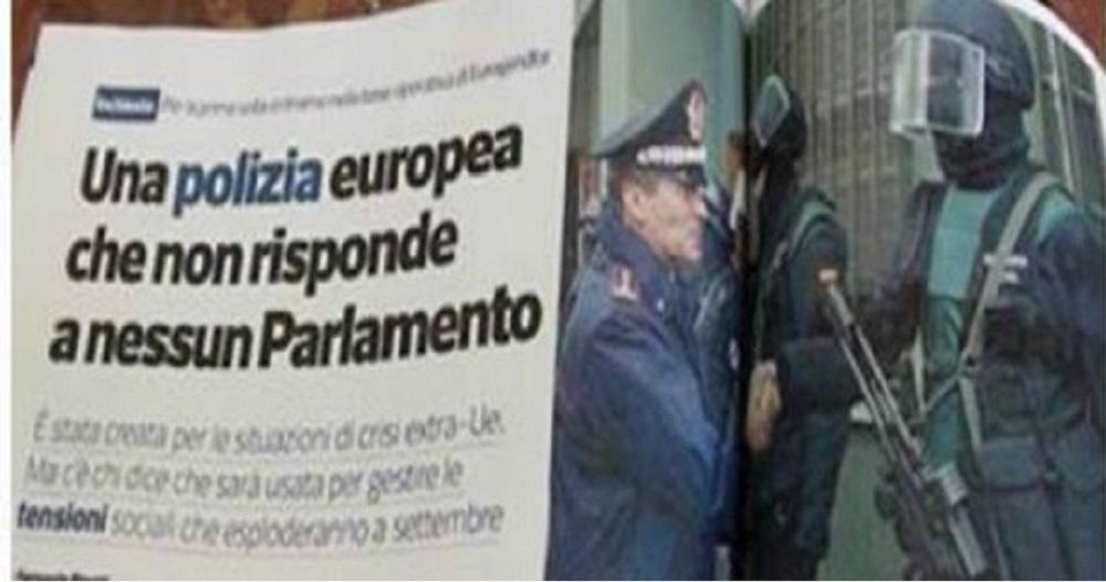 Eurogendfor: la nuova polizia europea che non risponde a nessun Parlamento
