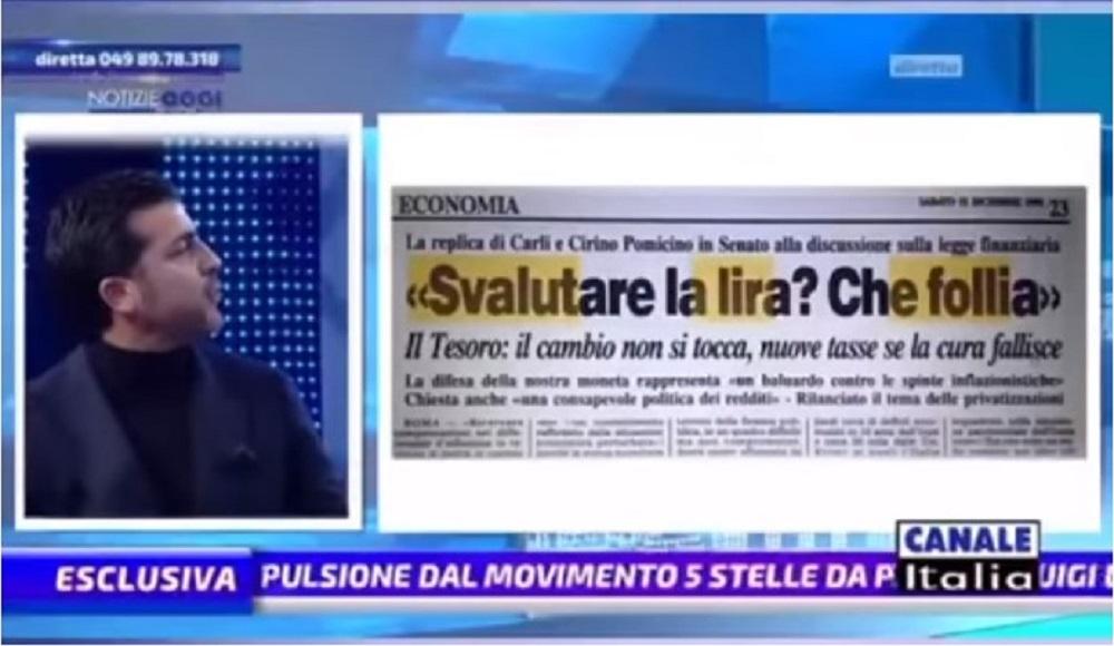 Sapevano che l'Euro avrebbe distrutto l'Italia. Tutte le prove finalmente in TV