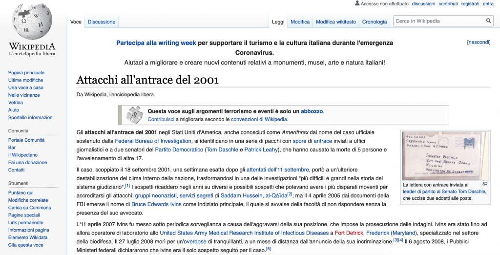 attacchi antrace wikipedia
