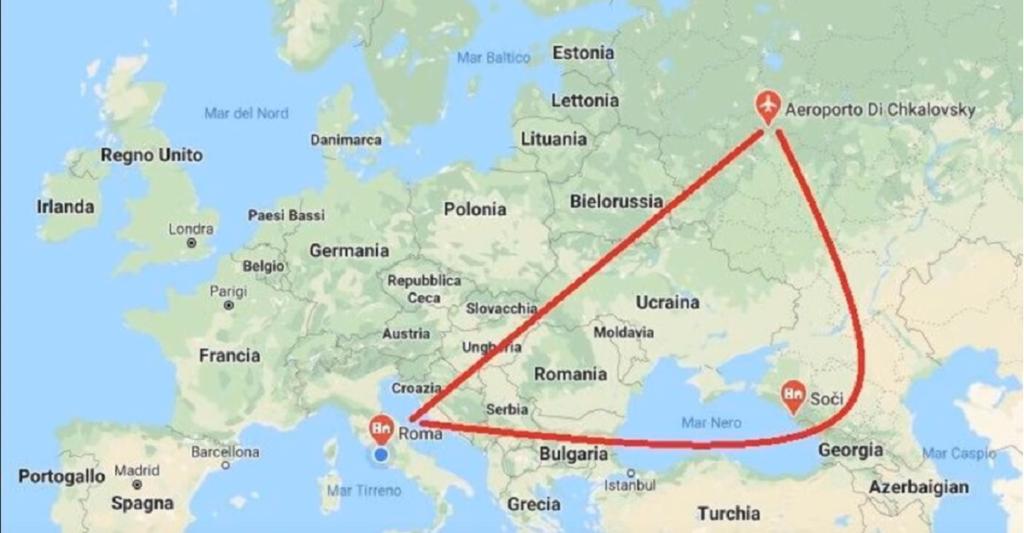 coronavirus aerei Russia Italia