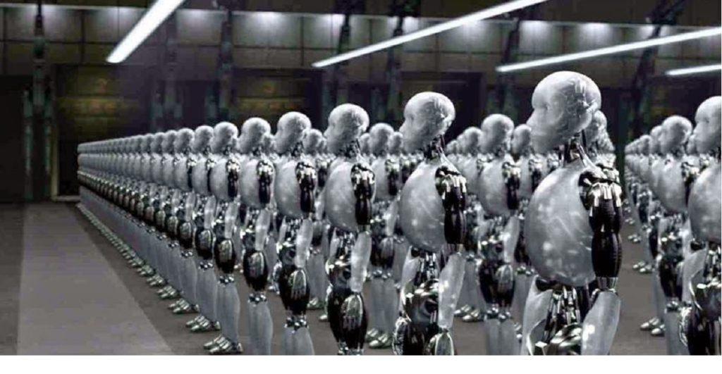 robot al posto di operai
