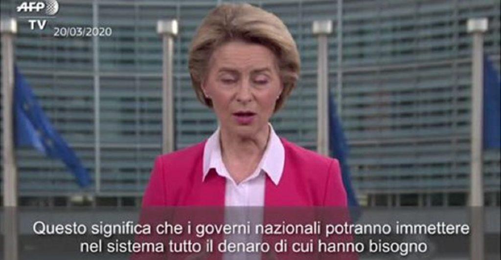 stop patto di stabilità Ursula Von Der Leyen