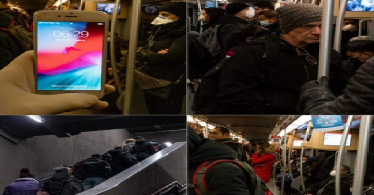 La metro di Milano continua ad essere piena. E poi ci lamentiamo dei contagi? Foto