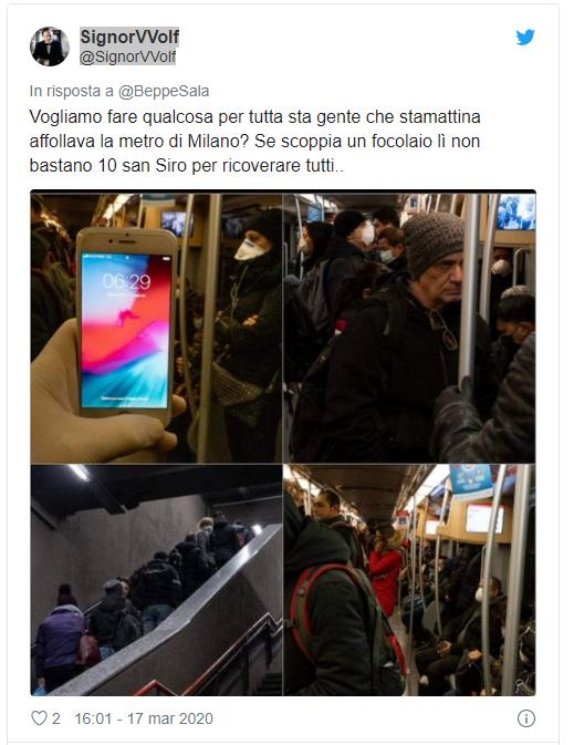 tweet metro Milano