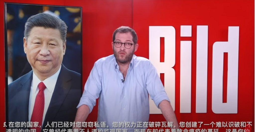 Julian Reichelts Bild attacca la Cina xi jinping