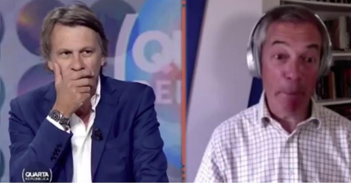 """Farage: """"vi spiego perchè l'Italia uscirà molto presto dall'Euro"""""""
