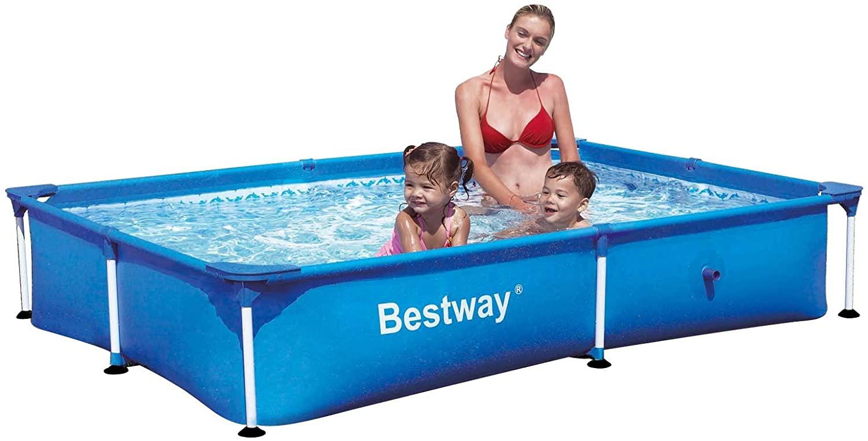 Bestway 56040 Splash Piscina Rettangolare Senza Pompa, 221X150X43 H