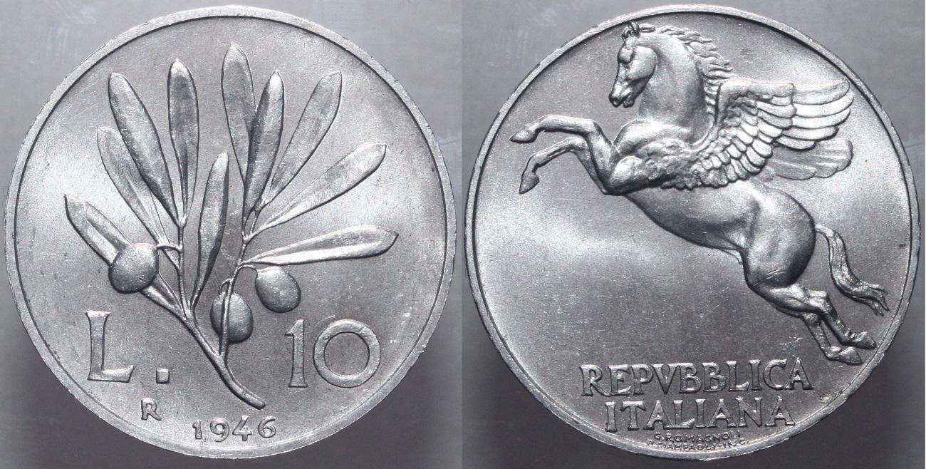 10 lire olivo 1946