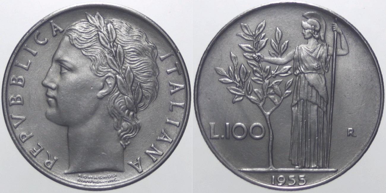 100 lire del 1955