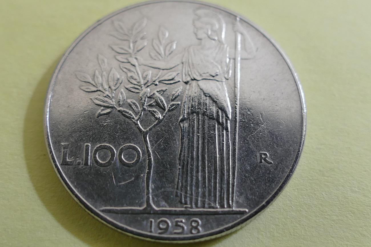 100 lire 1958 Minerva