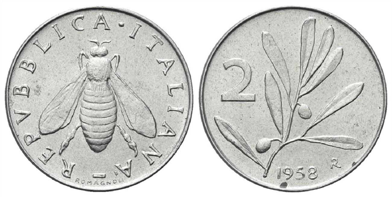 2 lire 1958