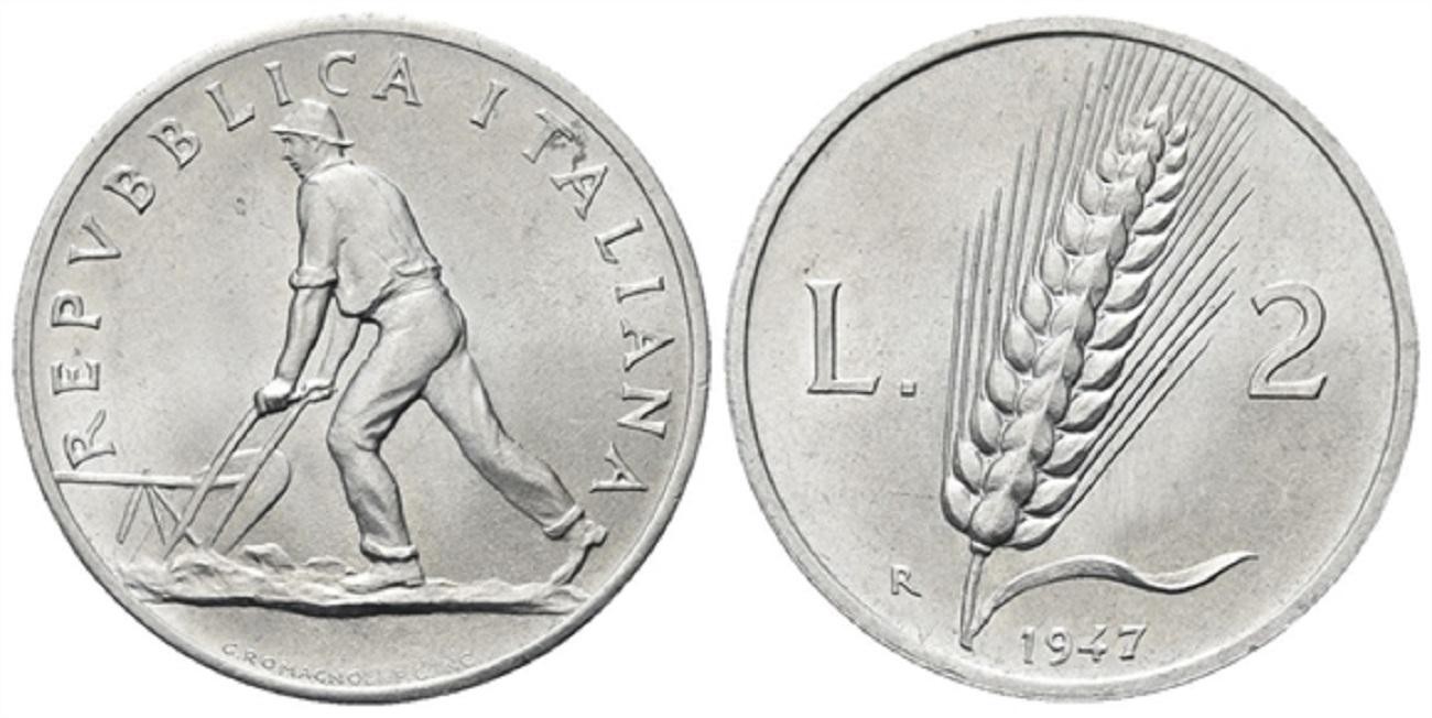 2 lire spiga 1947