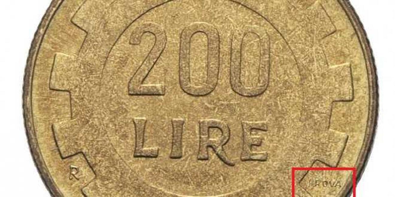 200 lire prova del 1977
