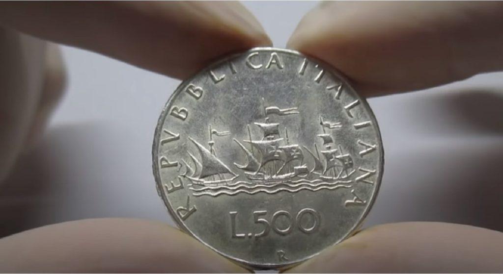 500 lire argento caravelle valore