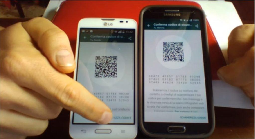 WhatsApp aggiungere contatto QR Code