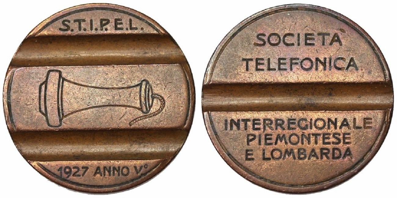 gettone telefonico STIPEL 1927
