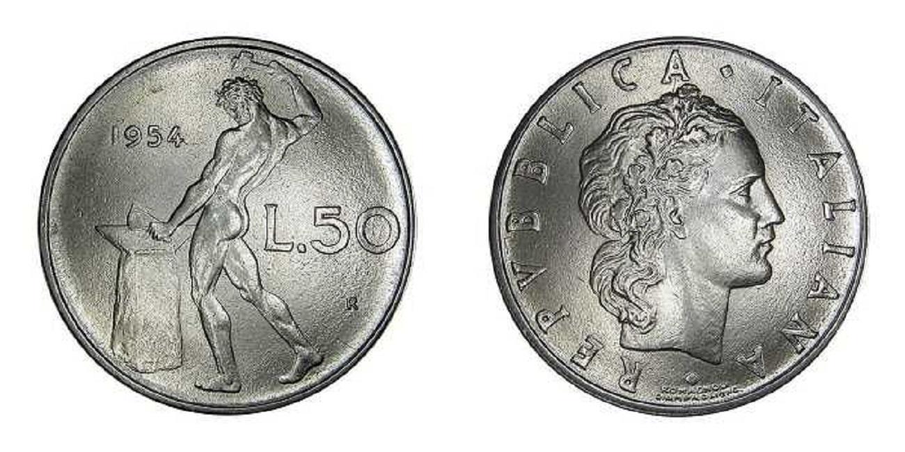 50 lire vulcano del 1954