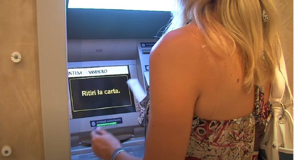 Sportello automatico Bancomat tariffe prelievi