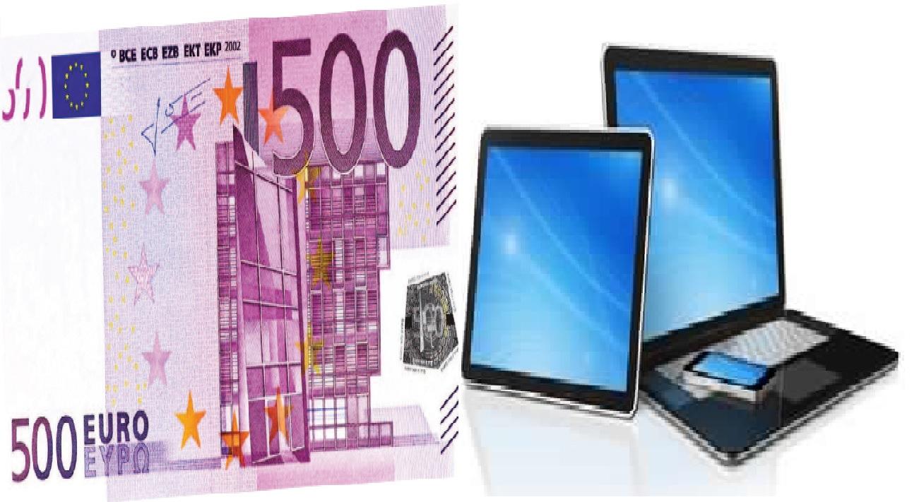 Banconota da 500 euro - bonus PC e tablet