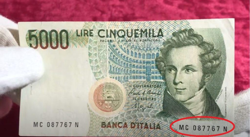 Banconota da Cinquemila lire