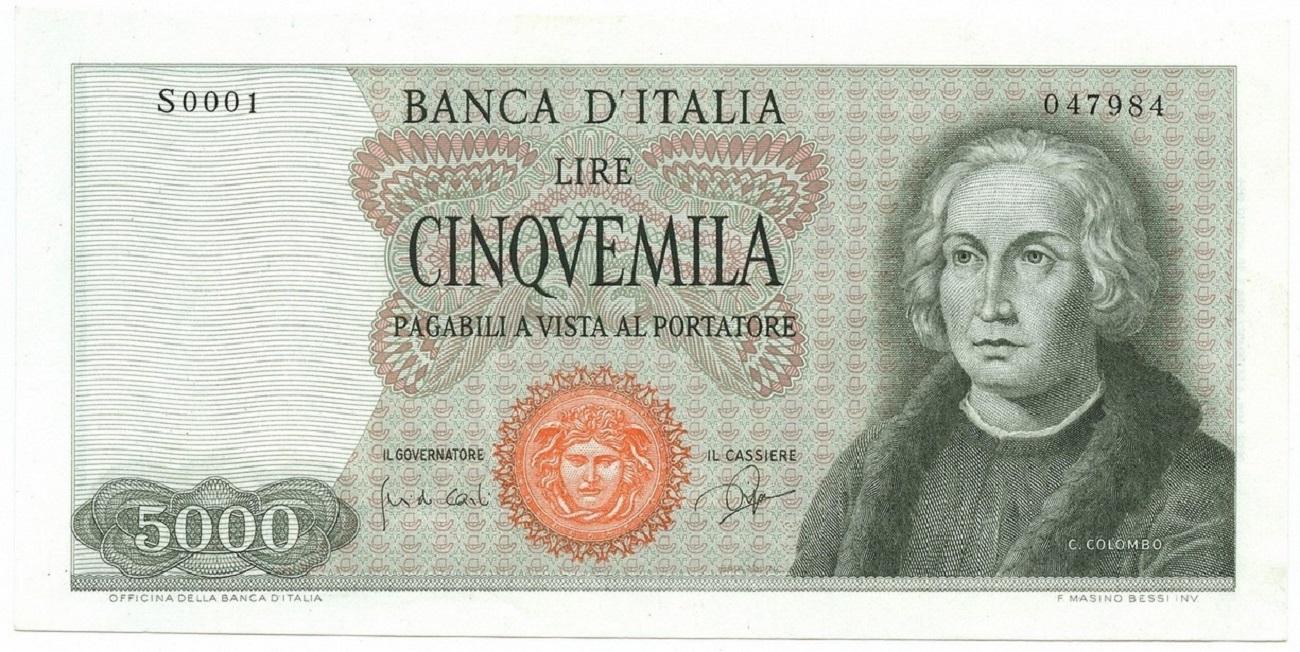 Cinquemila lire Colombo 1964