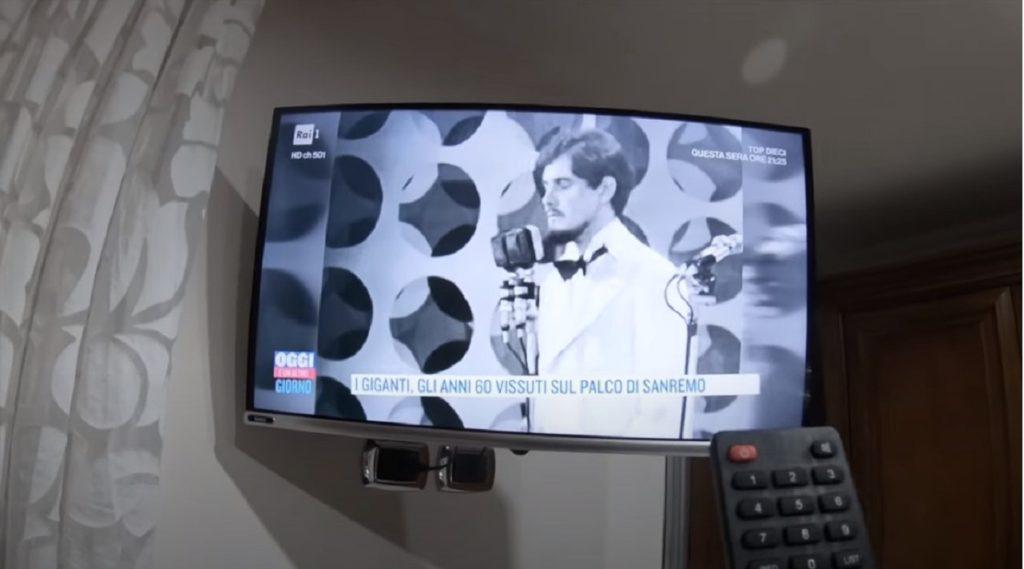 Tv sintonizzata su Rai 1
