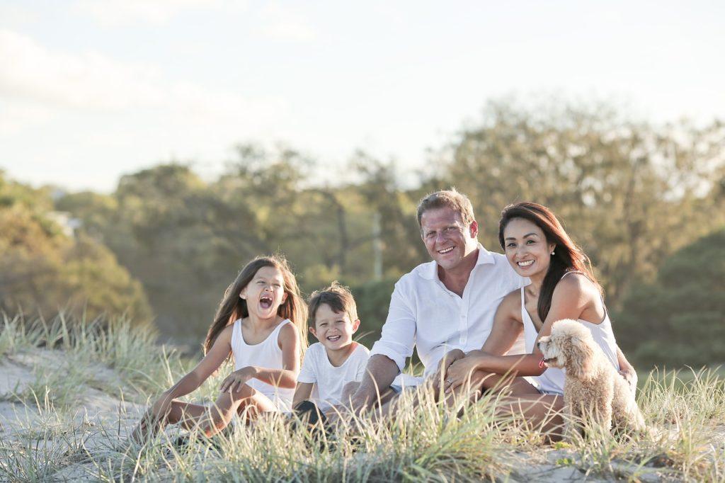 Famiglia con figli a carico