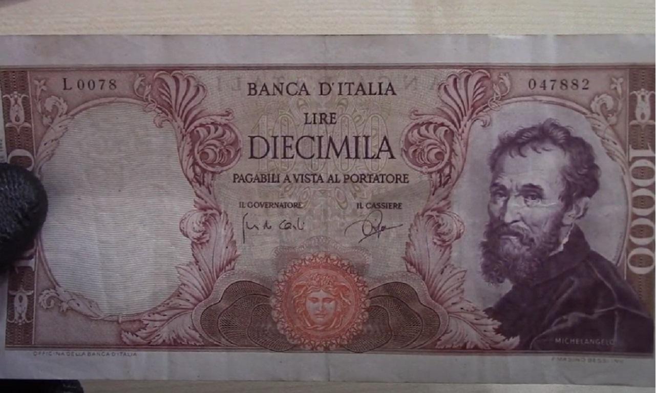 Banconota 10000 lire Michelangelo